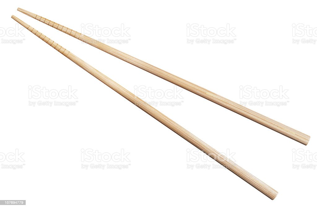 bamboo chopsticks isolated on white stock photo