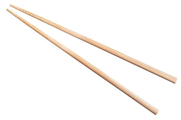 Baguettes en bambou isolé sur blanc - Photo