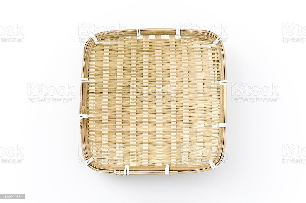 Bamboo colander royalty-free stock photo