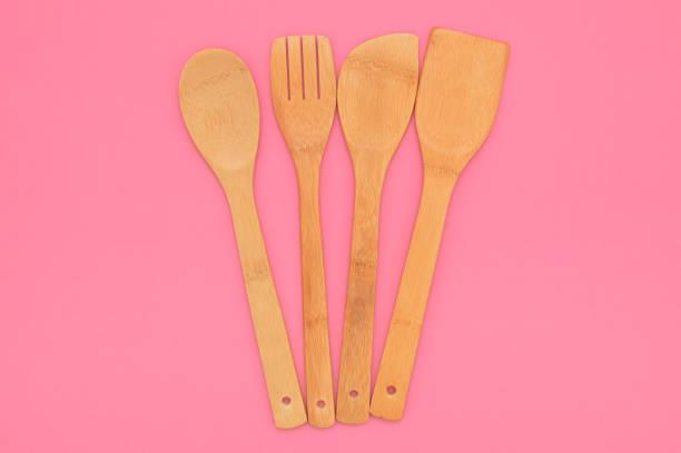 Bamboo Cooking Utensils stock photo