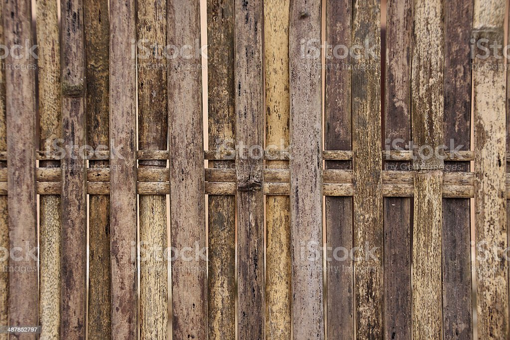 Bamboo fence background royalty-free stock photo