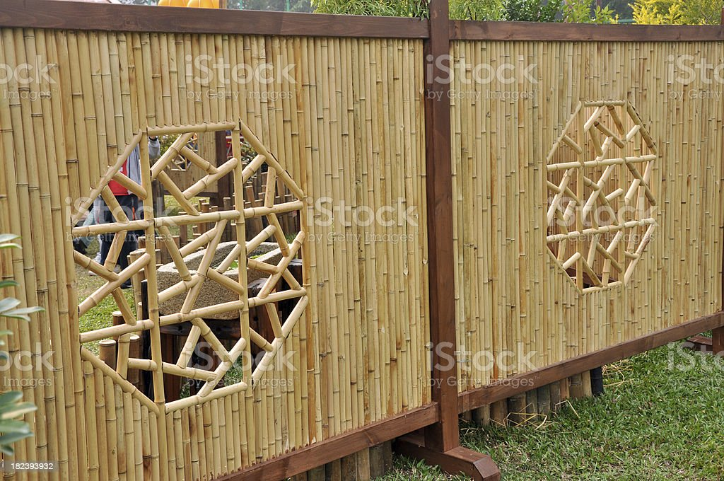 Bamboo Fence (Chinese / Japanese / Korea Style Pattern) Royalty Free Stock  Photo