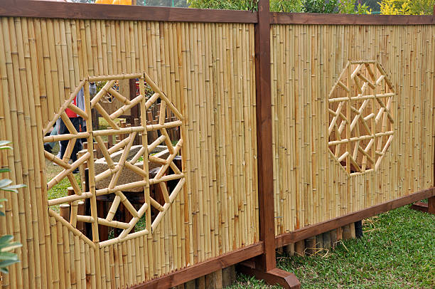 Bamboo Fence (Chinese / Japanese / Korea Style Pattern) stock photo