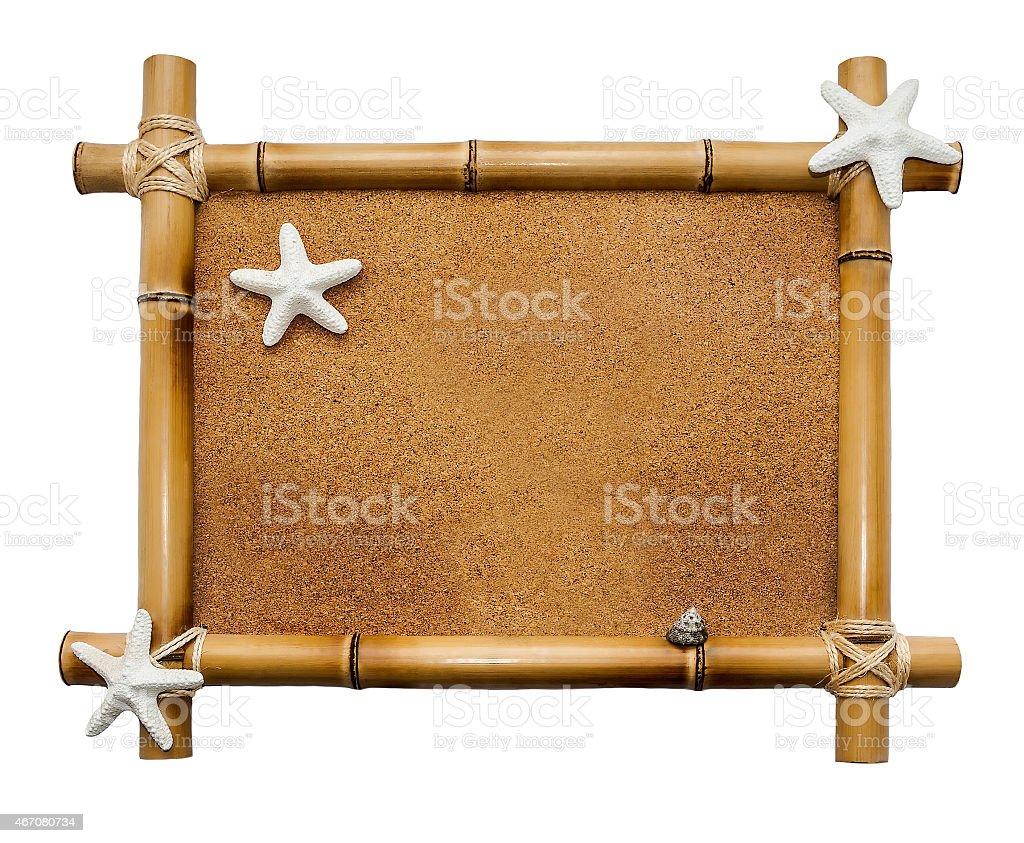 Bambus Rahmen Isoliert Auf Weißem Hintergrund - Stockfoto | iStock