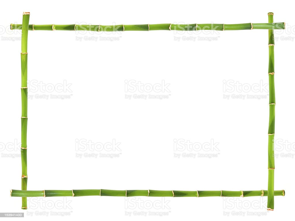 Bamboo frames isolated stock photo
