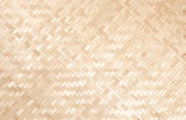 bambu hantverk väva thailändsk stil mönster natur struktur bakgrund - halmslöjd bildbanksfoton och bilder