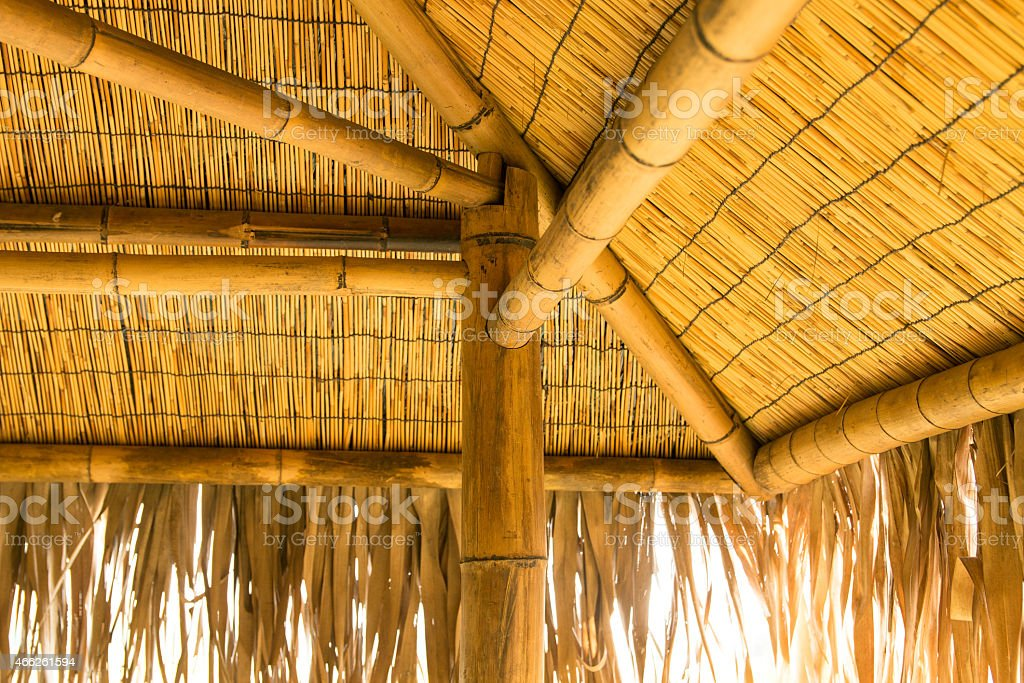 Bamboo house stock photo