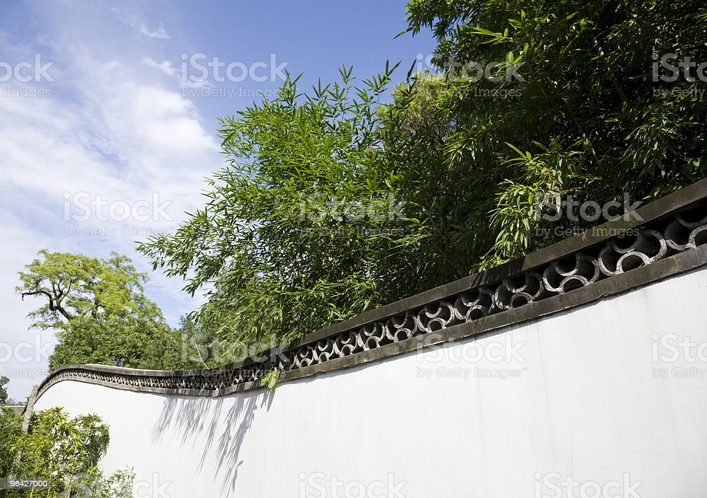bamboo in Chinese garden royalty-free stock photo