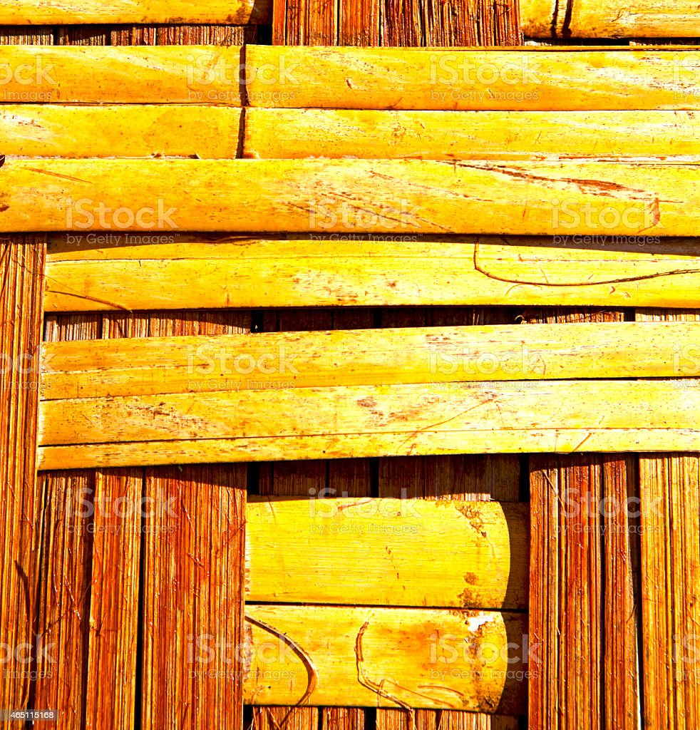 bamboo in the  kho phangan bay asia and stock photo