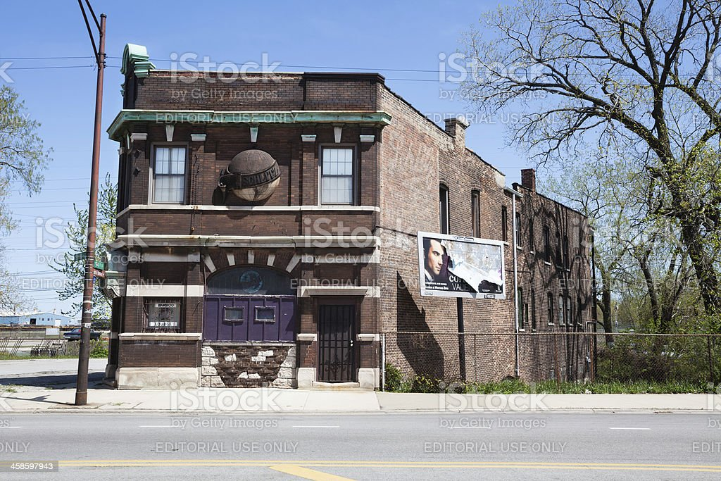 Bamboo Lounge in East Side, Chicago royalty-free stock photo