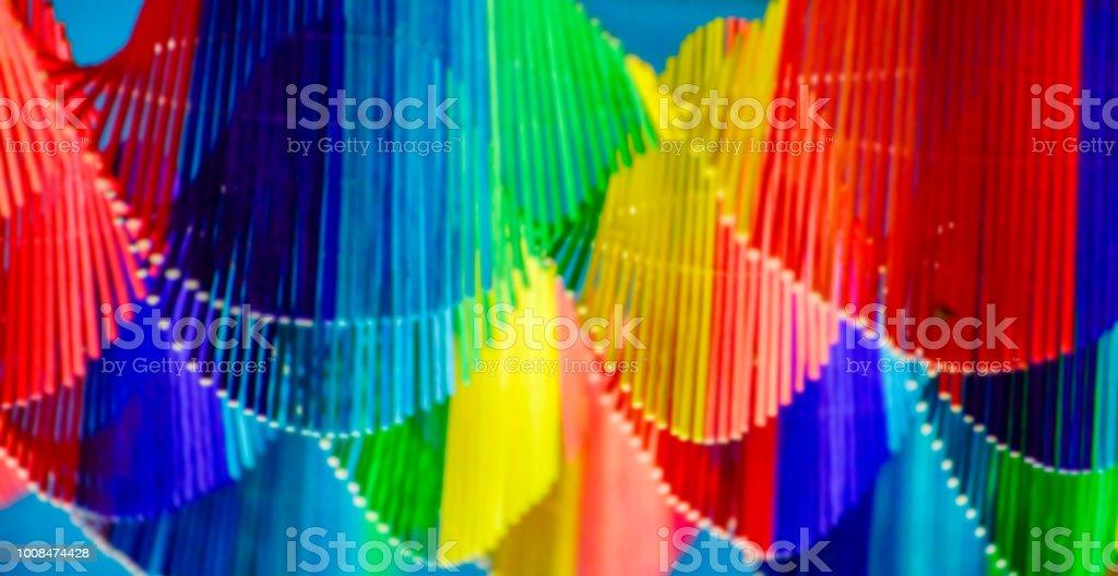 Hecho De Bambú Colores Multi Coloreada Decoración Venta De