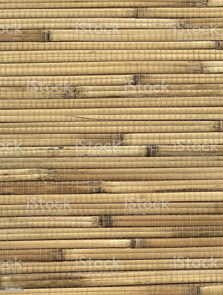 Bamboo Mat background stock photo