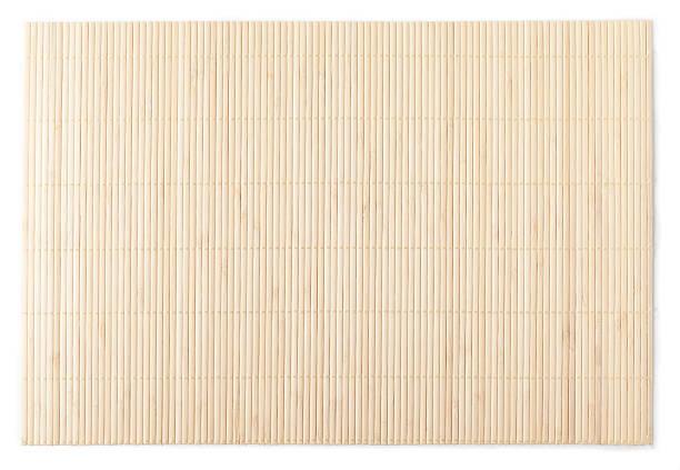 Alfombrilla de bambú - foto de stock