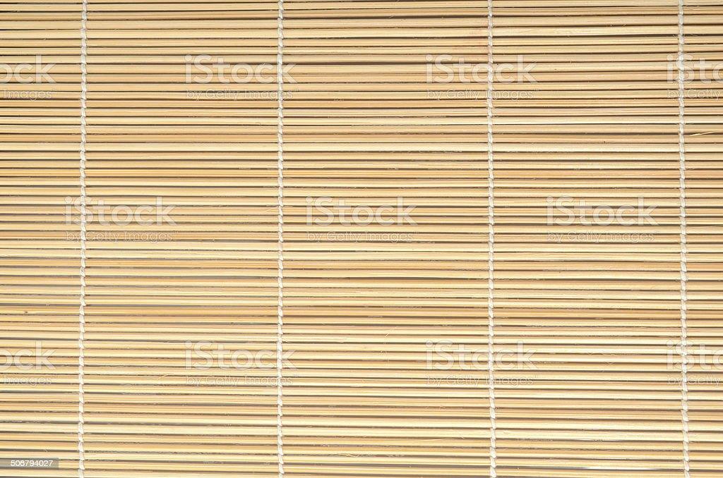 Bamboo mat stock photo