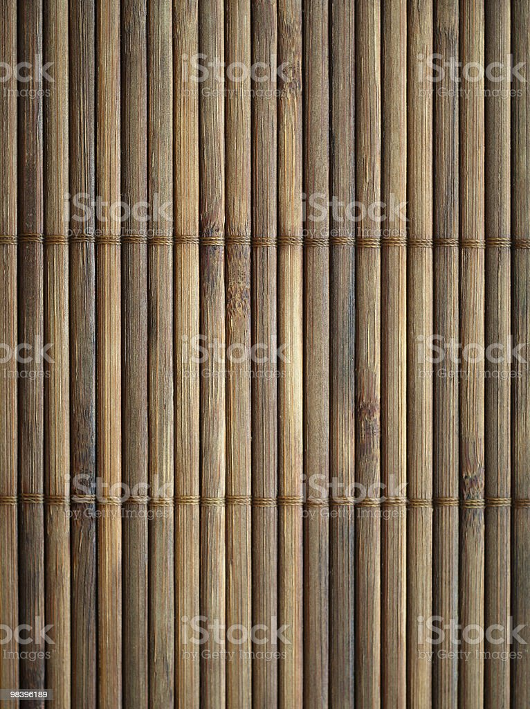 Bamboo mat surface. royalty-free stock photo