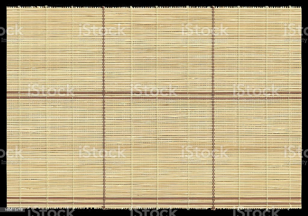 Bamboo mat texture background isolated stock photo