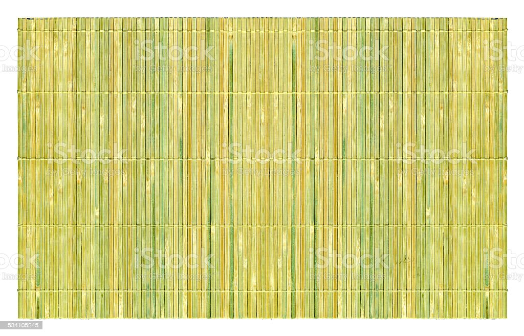Bamboo mat textured background isolated on white stock photo