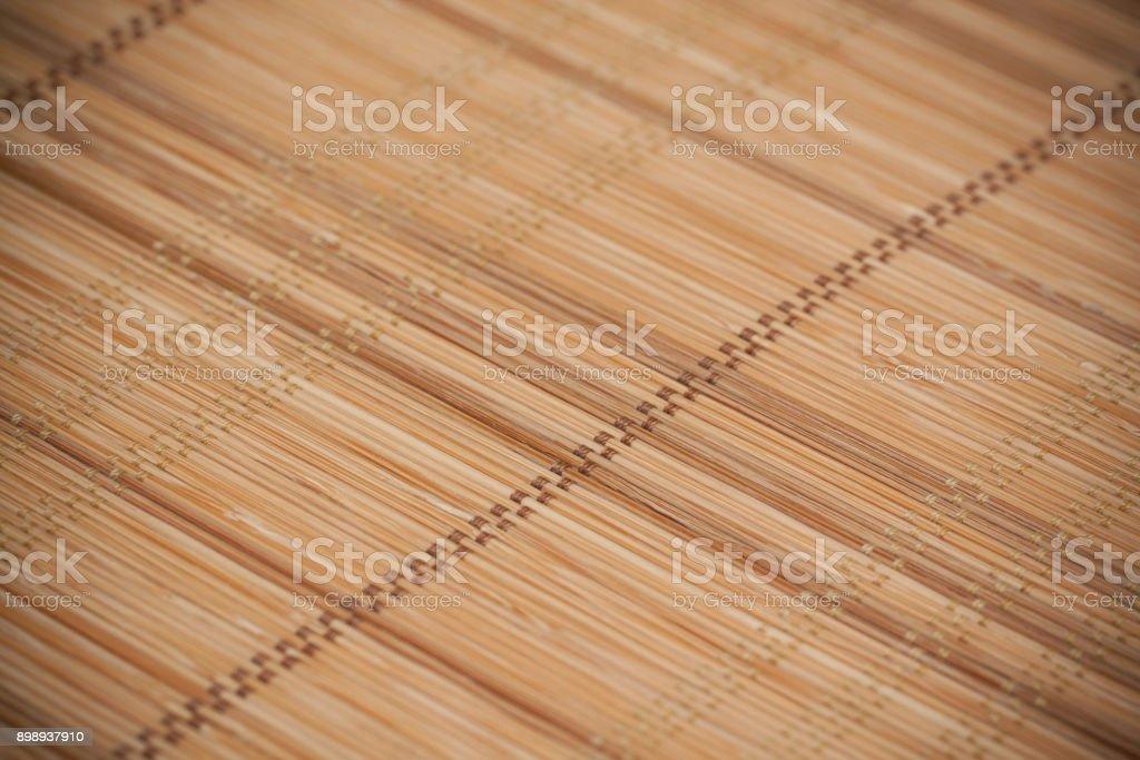 Bamboo mat textured background stock photo