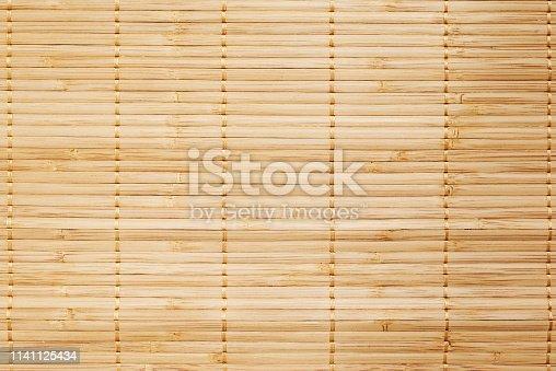 istock Bamboo mat,horizontal. 1141125434