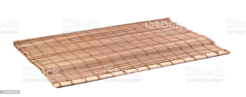 Bamboo napkin isolated stock photo