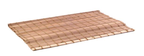 bambus serviette isoliert - teppich englisch stock-fotos und bilder