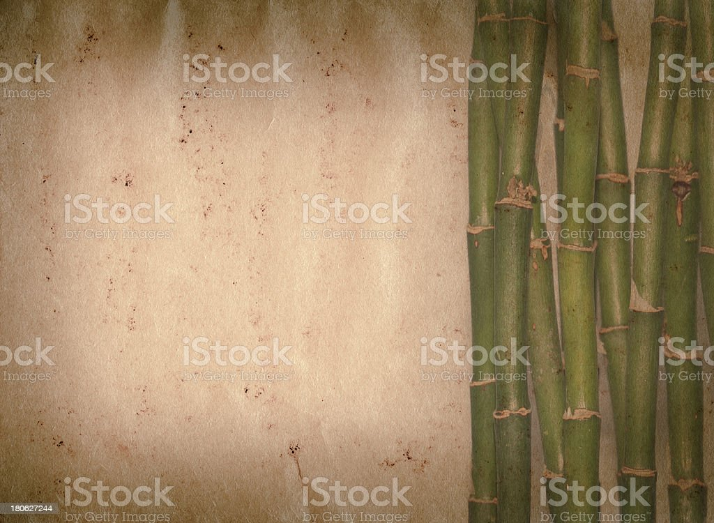 bamboo old grunge paper texture royalty-free stock photo