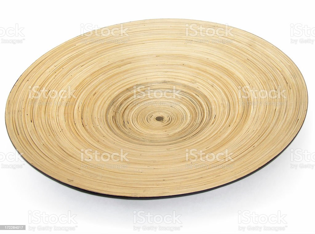 Bamboo Plate royalty-free stock photo