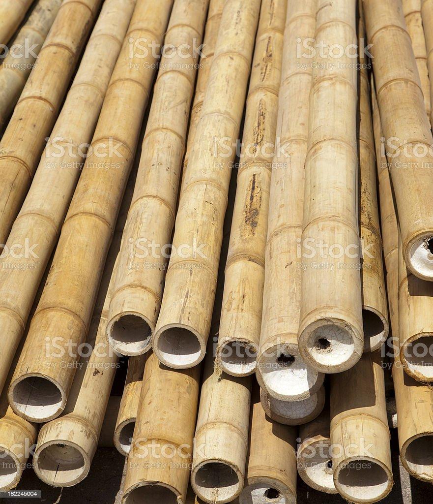 Bamboo poles royalty-free stock photo