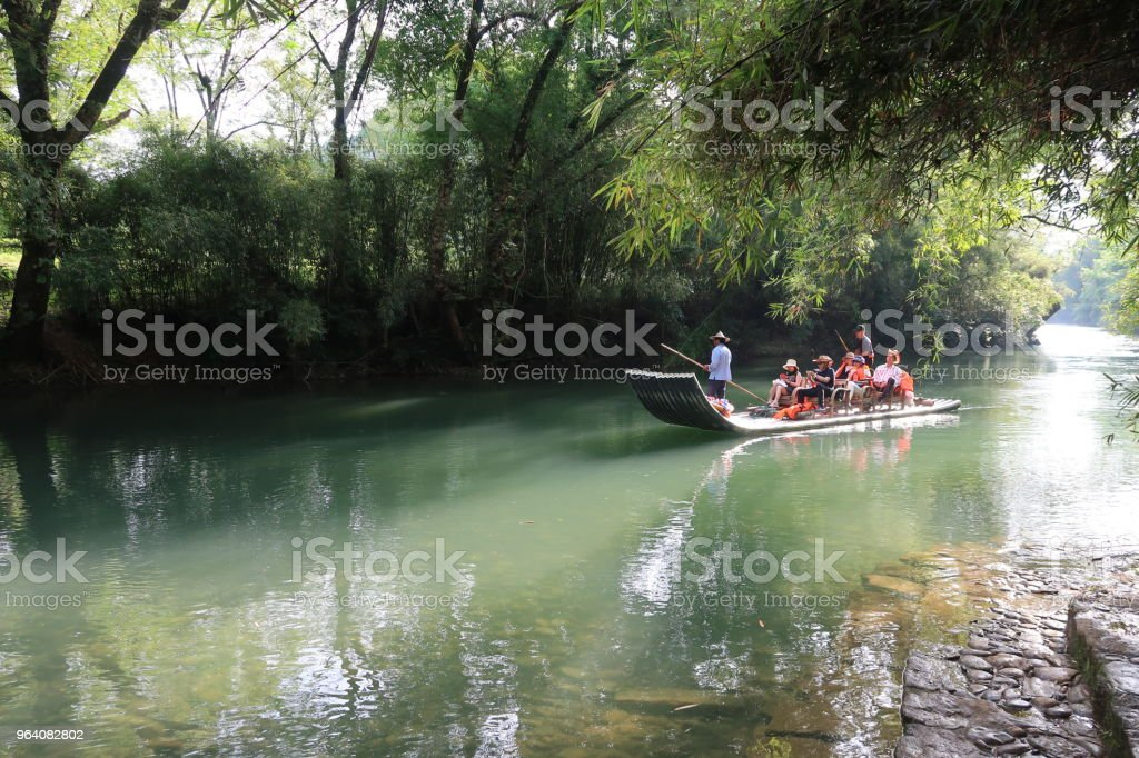 Bamboo rafting in Mount. Wuyi - Royalty-free Beauty In Nature Stock Photo