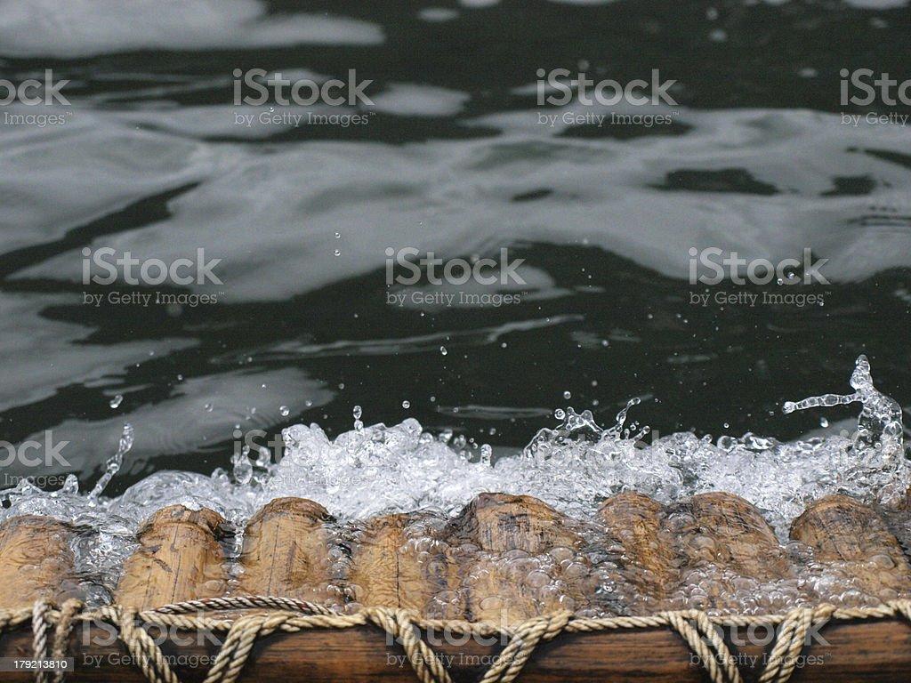Bamboo rafting stock photo