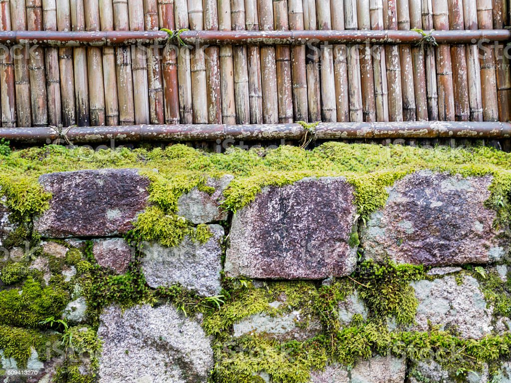 Bamboo U0026 Rock Fence In Japanese Garden Design Element Royalty Free Stock  Photo