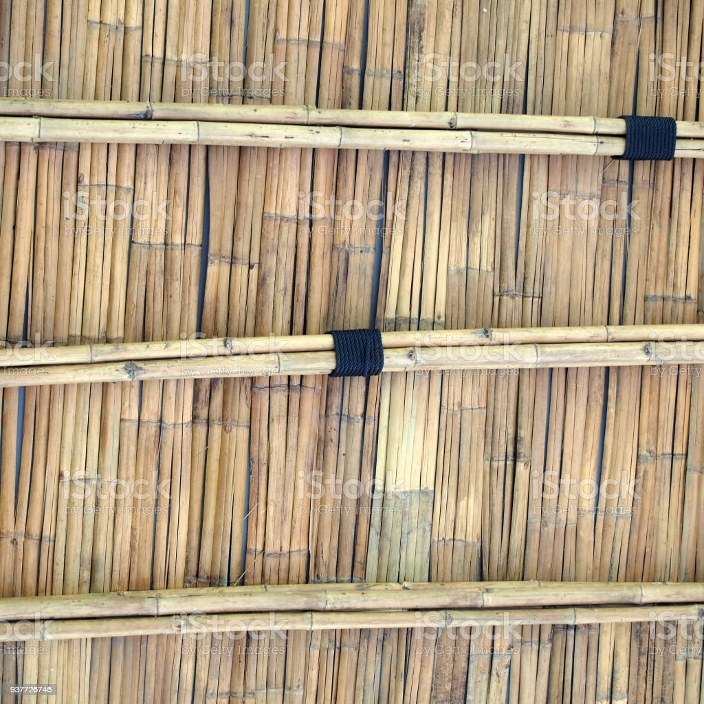 bamboo roof stock photo