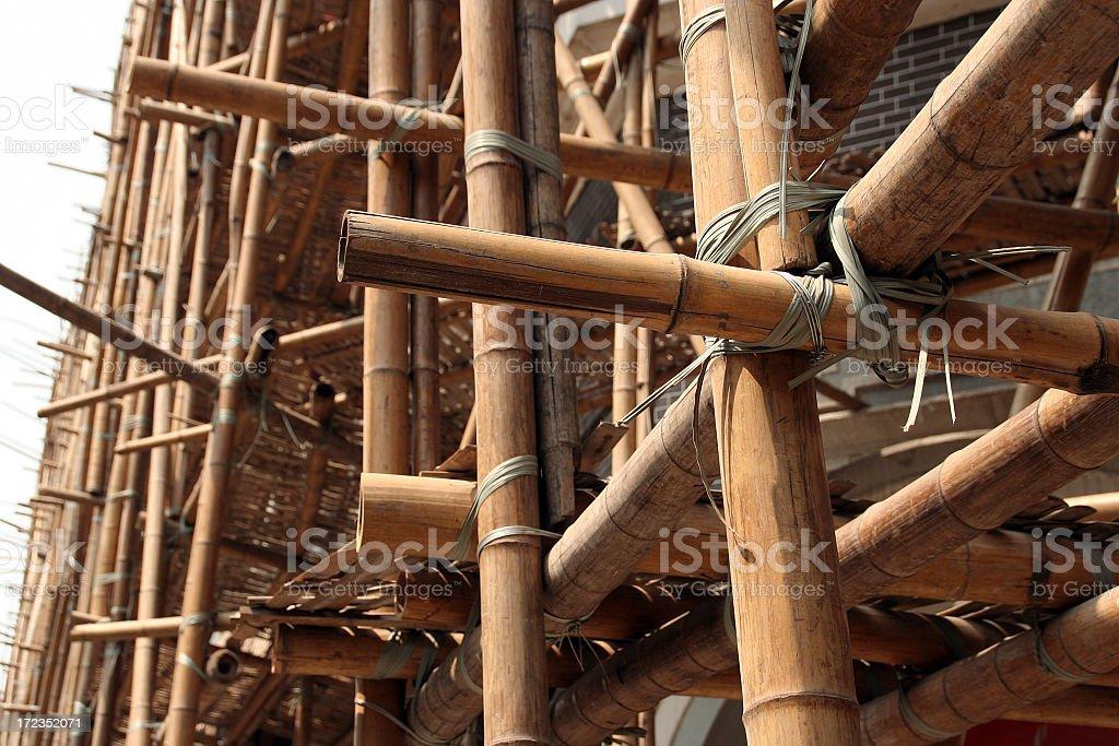 bamboo scaffolding royalty-free stock photo