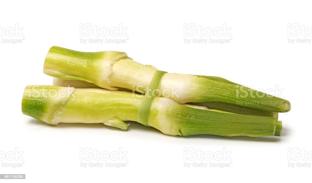 Bamboo shoot for cooking  isolated on a white  background stock photo