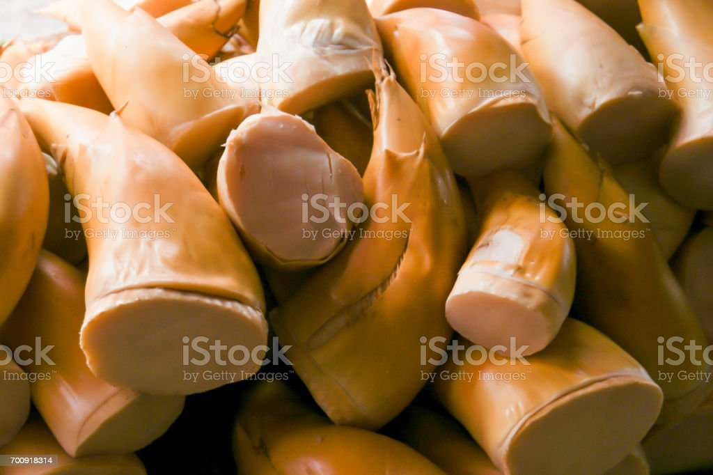 Bamboo shoot for sale in market. stock photo