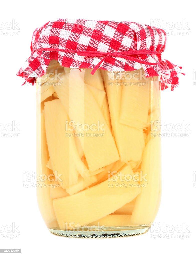 Bambussprossen In Glas Jar Stock Fotografie Und Mehr Bilder Von