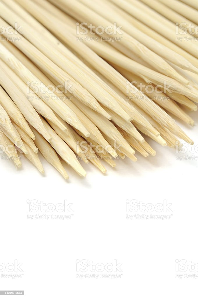 Bamboo Skewers royalty-free stock photo