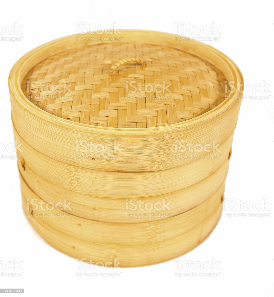 Bamboo steamer stock photo