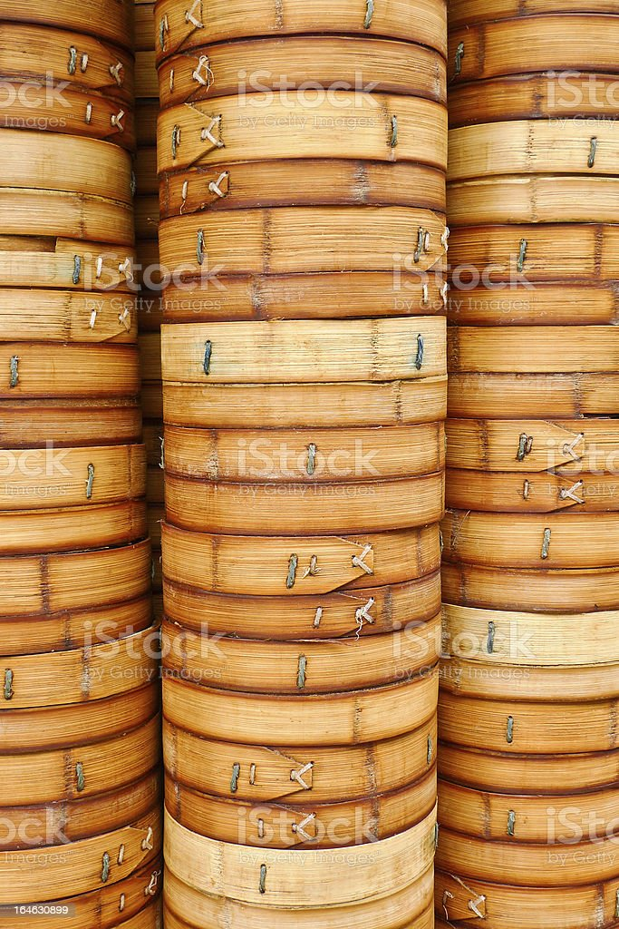 Bamboo Steamers stock photo