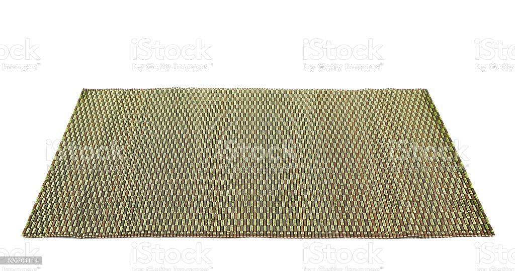 Vaso sirve para alfombrilla de bambú, aislado - foto de stock
