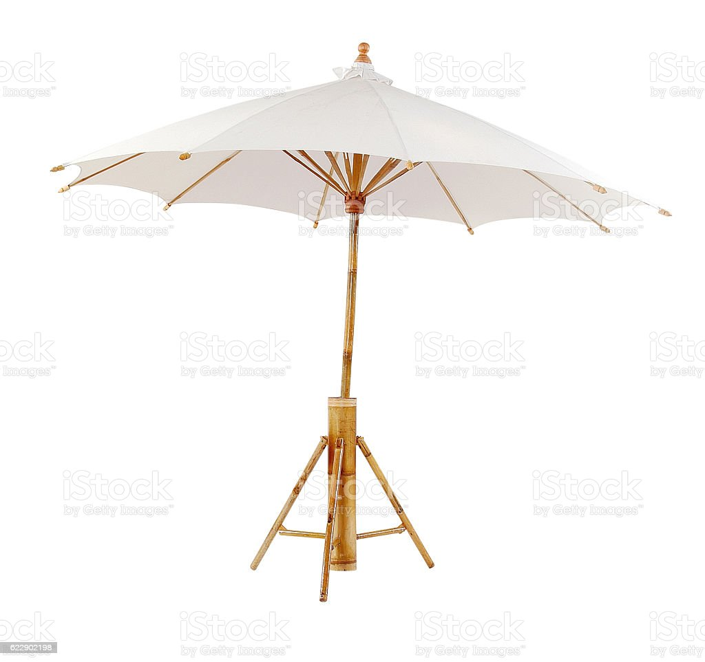 Bamboo sunshade stock photo