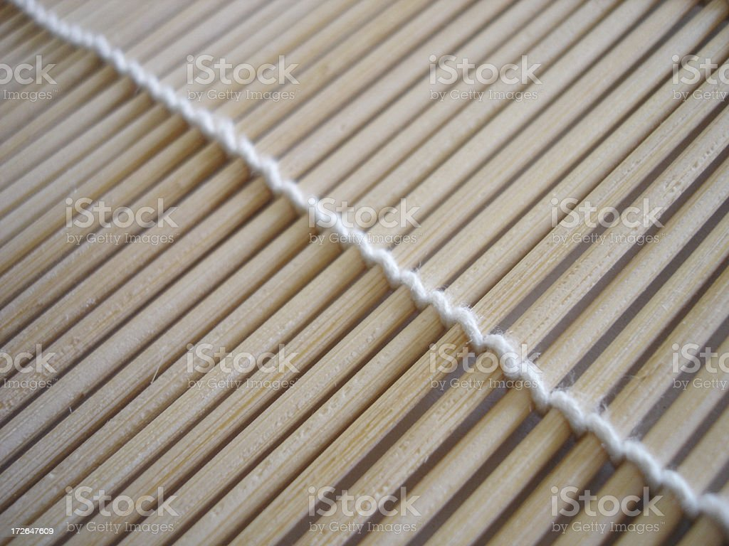 Bamboo Sushi Roll Closeup royalty-free stock photo