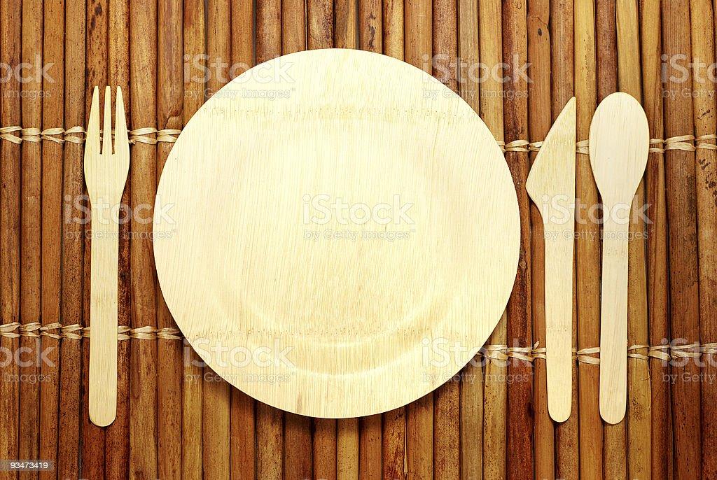 Bamboo Tableware royalty-free stock photo