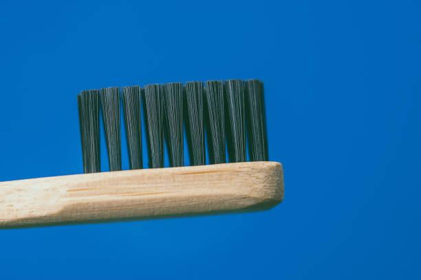Bamboo toothbrush stock photo