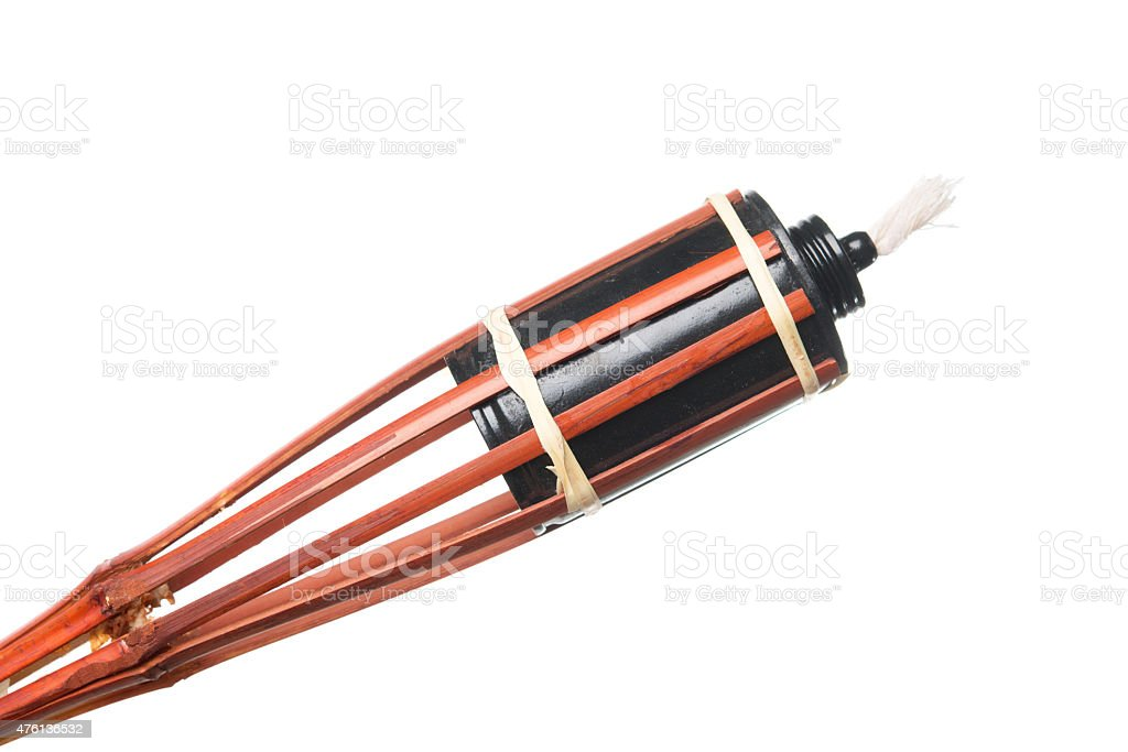 Bamboo torch stock photo