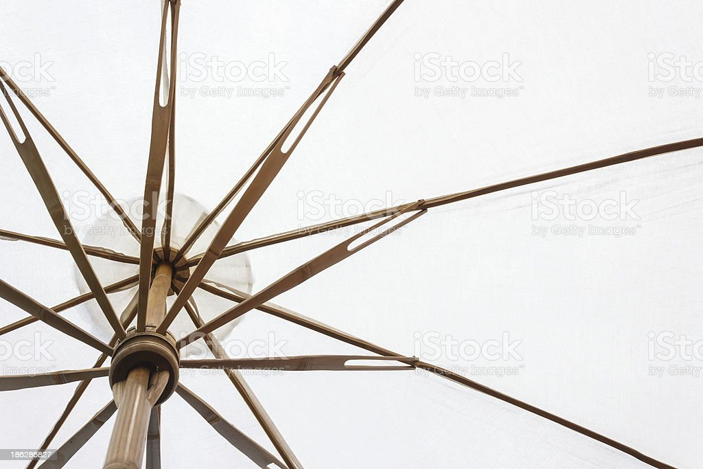 bamboo umbrella royalty-free stock photo