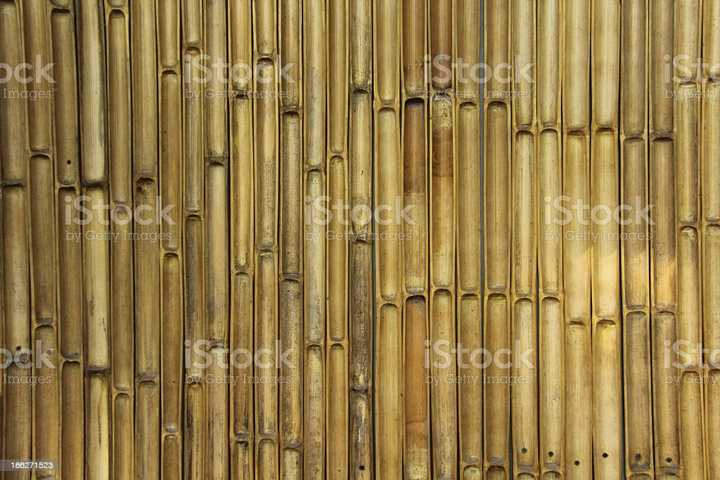 Bamboo wall. royalty-free stock photo