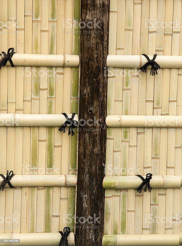 Bamboo walls. royalty-free stock photo