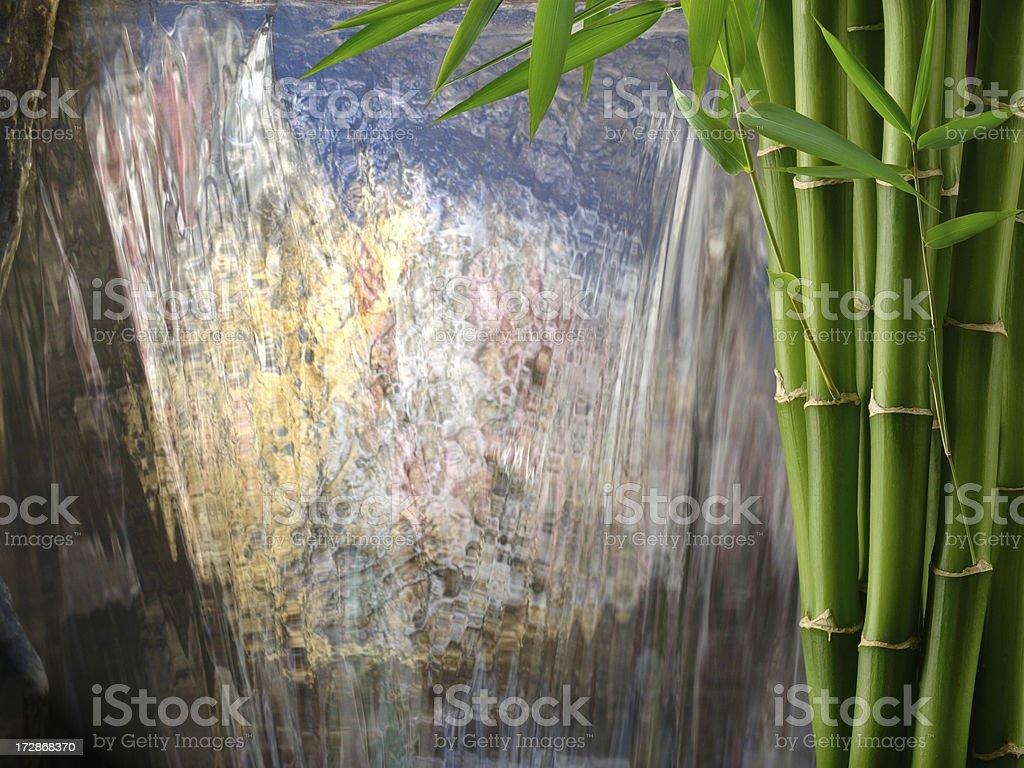 Bamboo Waterfall royalty-free stock photo