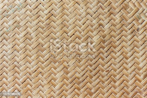 Bamboo weave pattern background.